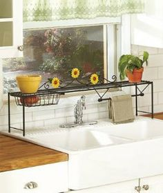Web Photo Gallery DAISY FLOWER KITCHEN COLLECTION Over Sink Shelf Style Brighten And Helps to Organize Your