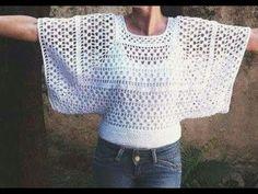 Crochet Tunic, Thread Crochet, Crochet Doilies, Crochet Clothes, Crochet Top, Crochet Diagram, Crochet Chart, Crochet Patterns, Knitting Yarn Diy