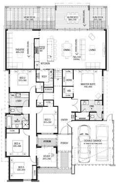 Precious Tips for Outdoor Gardens - Modern Sims House Plans, House Layout Plans, Floor Plan Layout, New House Plans, Dream House Plans, Modern House Plans, Small House Plans, House Layouts, Family House Plans