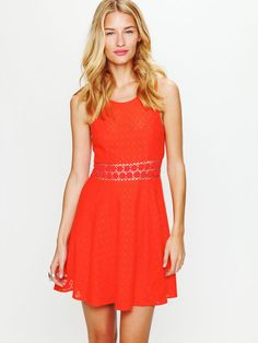 e0045a6081 Free People Fitted With Daisies Dress in Hibiscus