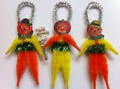 HALLOWEEN Jack O Lanterns jol set of 3 by StanleyAndStewart, $12.00