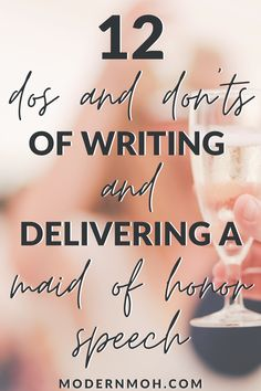 A list of 12 dos and don'ts when it comes to writing and delivering a maid of honor speech Maid Of Honor Speech, Matron Of Honour, Free Wedding, Wedding Day, Getting Drunk, Writing Tips, How To Introduce Yourself, Best Quotes, Told You So