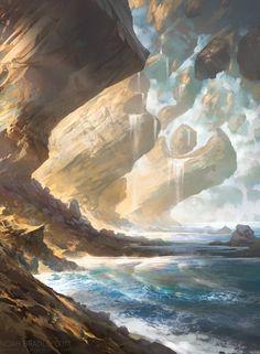 Island concept art by Noah Bradley