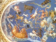 The night sky, ceiling of the Nave of the Palazzo Farnese.
