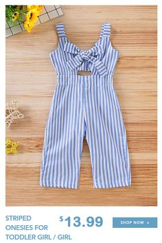 Check out this great stuff I just found at PatPat!-- Striped Onesies for Toddler Girl / Girl Little Girl Outfits, Toddler Girl Outfits, Baby Outfits Newborn, Baby Girl Dresses, Kids Outfits, Toddler Girl Style, Toddler Girls, Kids Girls, Baby Girls