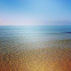 las aguas cristalinas del Mar Mediterraneo...