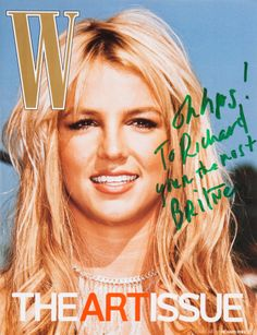 W MAGAZINE - NOVEMBER 2007 COVER MODEL (VERSION 8) - BRITNEY SPEARS