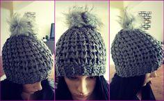 Crochet Beanie Pattern. Chunky crochet hat pattern. Pdf download