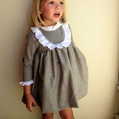 """Robe """"OLD ENGLAND"""" Retro-vintage en laine pour petite fille : Mode filles par rose-de-roz"""