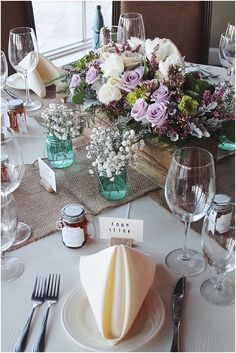 little miss lovely floral design // spring inspired pastel rustic wedding centerpiece // @LighthouseSound wedding @asappington @misslovely