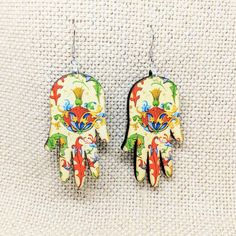 Handmade Hamsa earrings