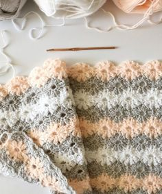 Crochet Petal Stitch Baby Blanket - Free Pattern