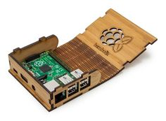 Crafted in the USA, the Bamboo'k is laser-cut from bamboo to create an organic, functional enclosure for the Raspberry Pi3, 2 and B+. The case comes fully assem