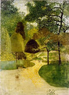 'The Park' by Victor Pasmore, 1947. Probably Greenwich Park in London (Pasmore lived in Blackheath)