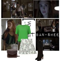 Lydia Martin 4x06 by federica-m on Polyvore featuring mode, Topshop, Kimchi Blue, Gianvito Rossi, A.P.C., TeenWolf and LydiaMartin