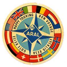 Bon Voyage ARAL sticker