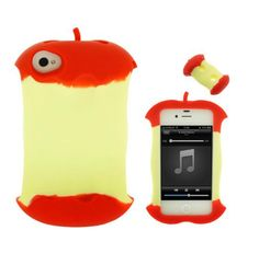 Apple Core Appearance Exquisite Back Cover for iPhone4 and 4S - Apple Accessories - Funny Gadgets Free shipping