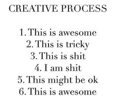 The Creative Process - The creative process– from the first drop of paint on the canvas to the art exhibition– involves a mix of emotions, drives, skills, and behaviors. It'd be miraculous if these emotions, traits and behaviors didn't often conflict with each other during the creative process, creating inner and outer tension. Indeed, creative people are often seen as weird, odd, and eccentric.