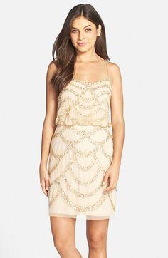 d93813d9465 Free shipping and returns on Aidan Mattox Beaded Mesh Blouson Dress at  Nordstrom.com.