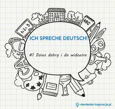 Pierwszy post z cyklu - ICH SPRECHE DEUTSCH. Formy powitania i pożegnania w języku niemieckim. Nauka niemieckich słówek i zwrotów z życia codziennego.