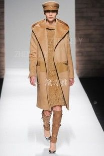 Proverbs poem elegant the big hooded stitching cashmere wool coat tailored customized 2012 autumn and winter M home new horn buckle  $1,283.87