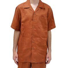 Solid Color 2 Piece Linen Shirt and Pants Sets #linensets #shirtpantssets #linen #menslinen #menshirts #menspants #fashion #mensfashion