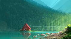 Risultati immagini per cartoon network concept art background