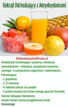 Koktajle ułatwiające odchudzanie-Koktajl z antyoksydant… na Stylowi.pl Homemade Protein Shakes, Easy Protein Shakes, Protein Shake Recipes, Yummy Drinks, Healthy Drinks, Healthy Eating, Healthy Recipes, Smoothie Drinks, Smoothies