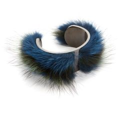 Salvatore Ferragamo Fur Cuff Bracelet (€440) ❤ liked on Polyvore featuring jewelry, bracelets, blue, hinged cuff bracelet, salvatore ferragamo jewelry, cuff bangle, blue jewelry and salvatore ferragamo