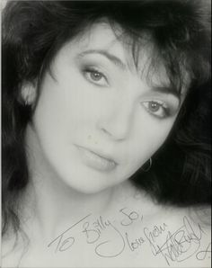 """Kate Bush, Autographed Photograph - 10"""" x 8"""" Black & White, UK, photograph, , AUTOGAPHED PHOTOGRAPH, 610948 Photography Movies, Rare Vinyl Records, Always And Forever, Movie Stars, Beautiful Women, Celebs, Actresses, Black And White, Lady"""