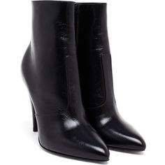 Saint Laurent High Heeled Leather Ankle Boots