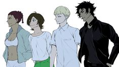 The dream team - miki, miko, akira and ryo //devilman crybaby