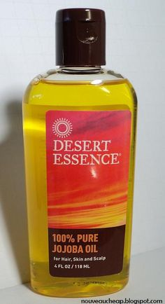 Nouveau Cheap: Review: Desert Essence 100% Pure Jojoba Oil. (I want to check out this entire brand -- I hear good things) $10-ish