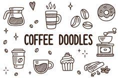 Vector coffee doodles by Irina Mir on Creative Market