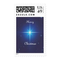 Merry Christmas Star Postage