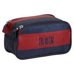 Getaway Red/Navy Rugby Toiletry Bag #pbteen