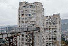 "#SOCHERITAGE on Instagram: ""Development on steep slopes in Nutsubidze Street. Tbilisi, Georgia. built between 1974-1976 Architects O.Kalandarishvili, G. Potskhishvili…"""