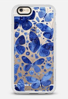 Blue Butterflies by Nic Squirrell for Casetify