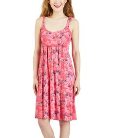 Look at this #zulilyfind! Papaya Fruit Paradise Impromptu Dress by Fresh Produce #zulilyfinds