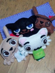 Felt dolls created by a Pet Society player. You can take Pet Society with you! #SavePetSociety