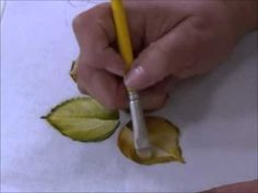 PINTANDO SOBRE TELA HOJAS VARIOS MODELOS   Como pintar folhas de rosas