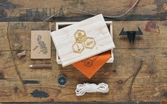 scout inspired invitation kit