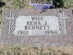 Rena Joy (Best) Bennett (1912 - 1996) My Uncle Lawrence's second wife Dad's side