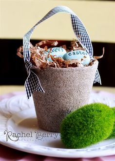 easter peat pot