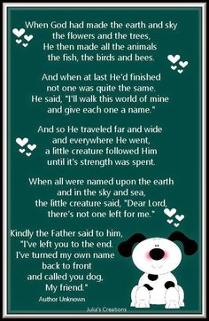 Julia's Creations: When God had made the earth and sky