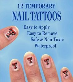 Texas Tech Red Raiders Nail Tattoos