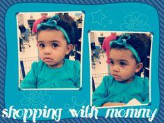 Giving dirty looks at Walmart.  My beautiful mixed baby girl.  Jasmine Isabella.