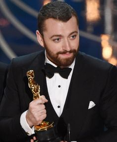 Sam Smith's reaction to being corrected about his Oscars speech is so perfect
