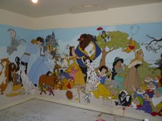 One of the walls in the grandkids playroom