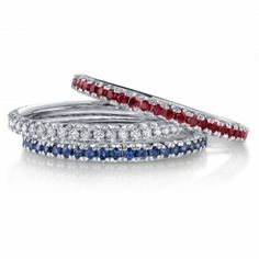 Want a sapphire and ruby skinny bands for mygirls birthstones